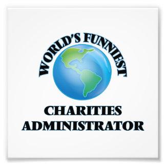 El administrador más divertido de las caridades cojinete