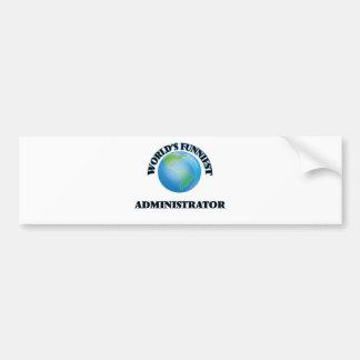 El administrador más divertido del mundo pegatina de parachoque