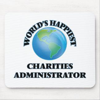 El administrador más feliz de las caridades del tapetes de ratón