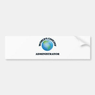 el administrador MÁS FRESCO de los mundos Etiqueta De Parachoque