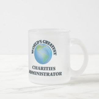 El administrador más grande de las caridades del taza cristal mate