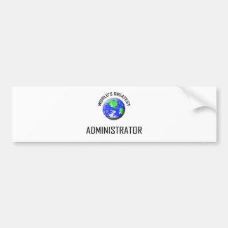 El administrador más grande del mundo pegatina de parachoque
