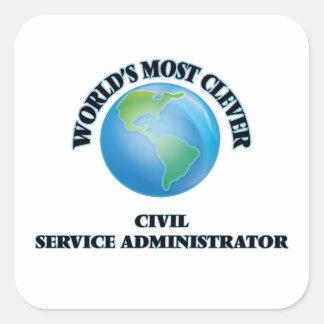 El administrador más listo de la función pública pegatina cuadrada