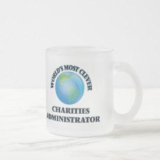 El administrador más listo de las caridades del taza cristal mate