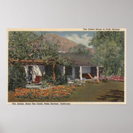 El Adobe (la casa más vieja en Palm Springs) Póster