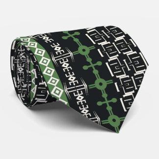 El adorno africano, diseño vertical, verde, sirve corbata