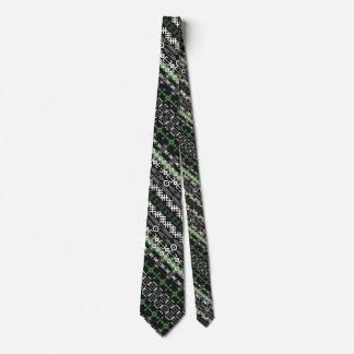 El adorno africano, rayas verticales, verde, sirve corbata
