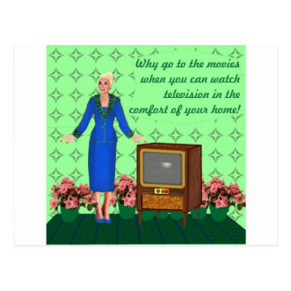 El advenimiento de la televisión tarjetas postales