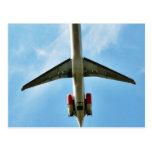 El aeroplano grande saca postal