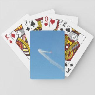 El aeroplano impide los naipes, azules naipes