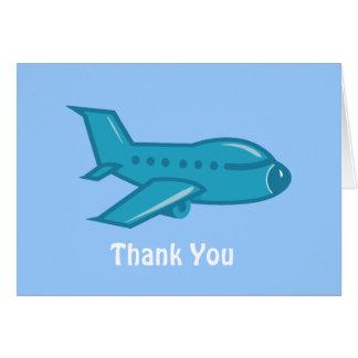 El aeroplano le agradece cardar felicitación