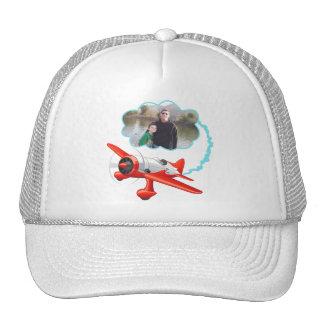 El aeroplano que vuela arriba añade su foto gorra