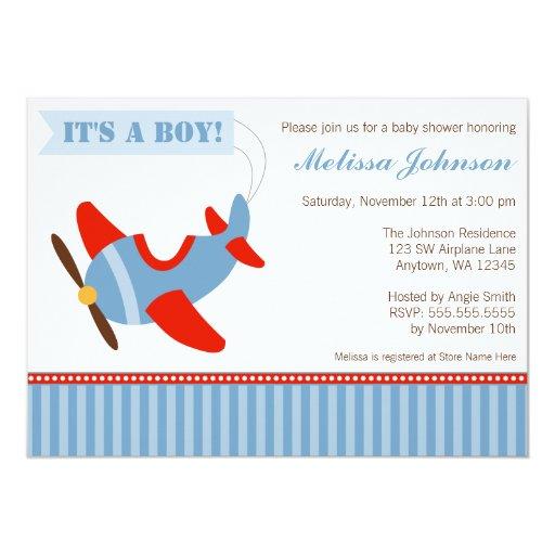 El aeroplano raya la fiesta de bienvenida al bebé comunicados personales