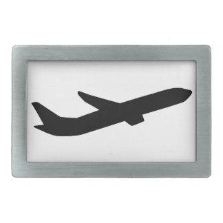 El aeroplano saca depature hebilla cinturón rectangular