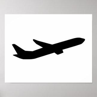 El aeroplano saca depature póster