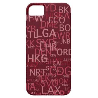 El aeropuerto de la Tres-Letra cifra rojo iPhone 5 Carcasa