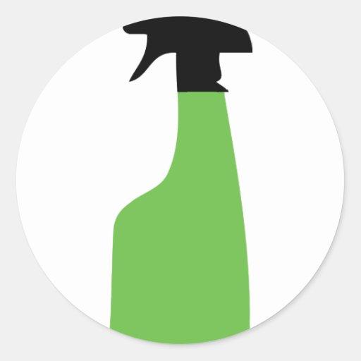 el aerosol de la limpieza puede ponerse verde etiquetas redondas