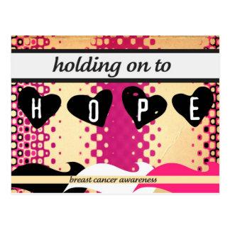 El aferrarse a la esperanza tarjetas postales