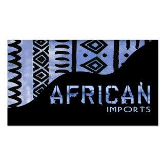 El africano importa II - paño del fango del Kenyan Plantilla De Tarjeta Personal