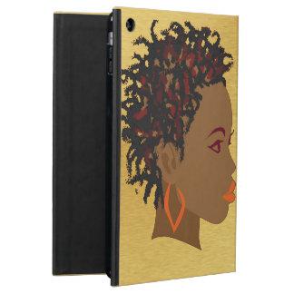 El Afro trenza la caja del aire del iPad de las