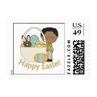 El afroamericano adorable Pascua embroma tarjetas Timbres Postales