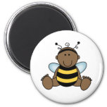 El afroamericano manosea al bebé de la abeja imán para frigorifico