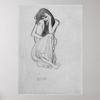 El agacharse del frente de Gustavo Klimt Impresiones