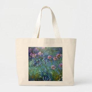 El Agapanthus del impresionismo florece el bolso Bolsa Tela Grande