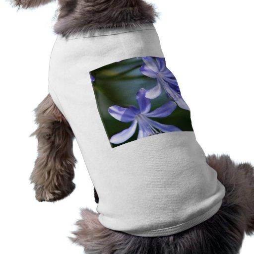 El Agapanthus florece camisa del perro Camisetas De Mascota