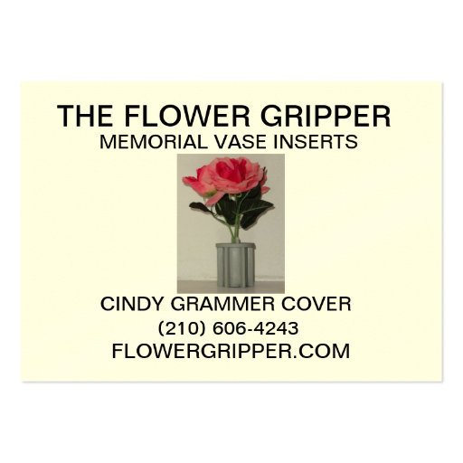 El agarrador de la flor tarjetas de visita grandes