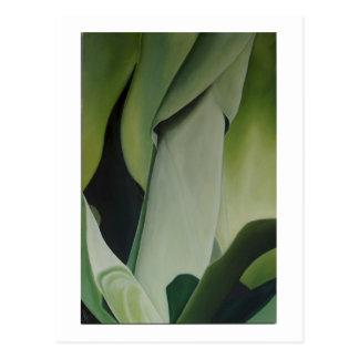 El agavo - tarjeta del arte postal