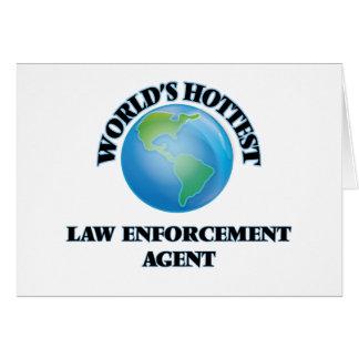 El agente de aplicación más caliente de la ley del tarjetas