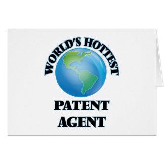 El agente de la patente más caliente del mundo tarjetón