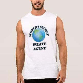 El agente de la propiedad inmobiliaria más camiseta sin mangas