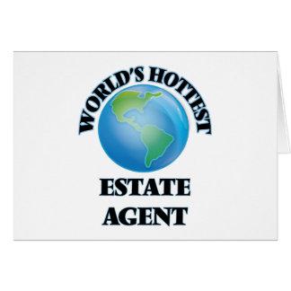 El agente de la propiedad inmobiliaria más tarjeton