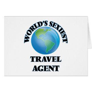 El agente de viajes más atractivo del mundo tarjeta