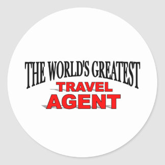 El agente de viajes más grande del mundo pegatina redonda