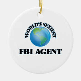 El agente del FBI más atractivo del mundo Adorno Redondo De Cerámica