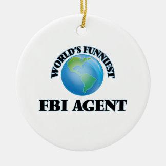El agente del FBI más divertido del mundo Adorno Redondo De Cerámica