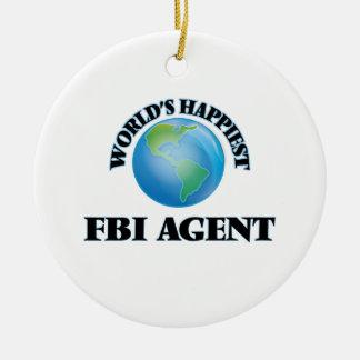 El agente del FBI más feliz del mundo Adorno Redondo De Cerámica