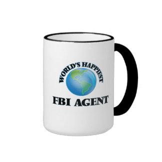 El agente del FBI más feliz del mundo Taza A Dos Colores