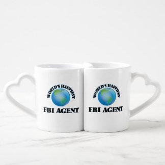 El agente del FBI más feliz del mundo Tazas Para Parejas