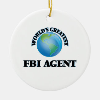 El agente del FBI más grande del mundo Adorno Redondo De Cerámica