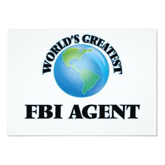 El agente del FBI más grande del mundo Invitación Personalizada