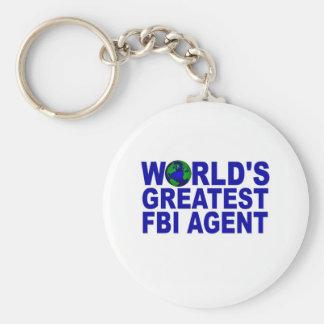 El agente del FBI más grande del mundo Llavero Redondo Tipo Pin