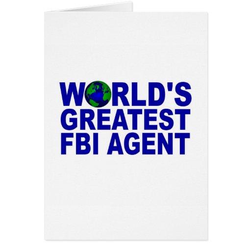 El agente del FBI más grande del mundo Tarjeta De Felicitación