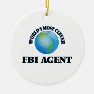 El agente del FBI más listo del mundo Adorno Redondo De Cerámica