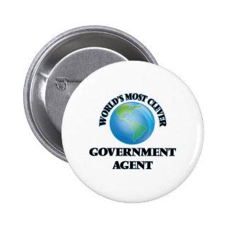 El agente del gobierno más listo del mundo pin
