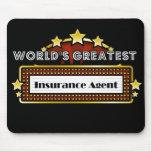 El agente del seguro más grande del mundo tapetes de raton