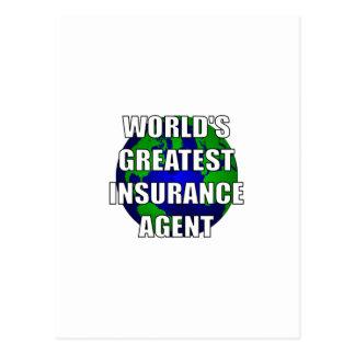 El agente del seguro más grande del mundo tarjetas postales